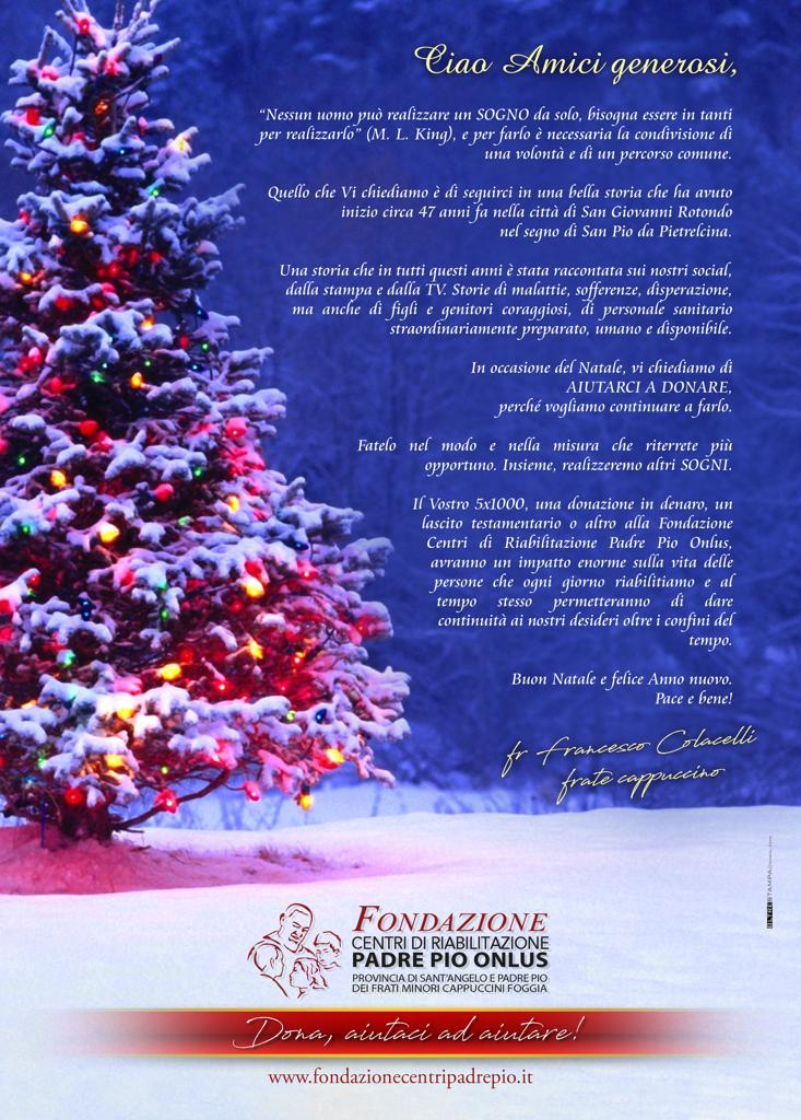 Grazie E Buon Natale.Buon Natale Amici Fondazione Centri Di Riabilitazione