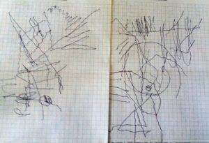 FOTO 1 i primi disegni del maestro dopo l'ischemia