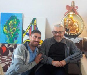 FOTO 2 Carmelo Di Lella ed il nostro fisiterapista Giambattista