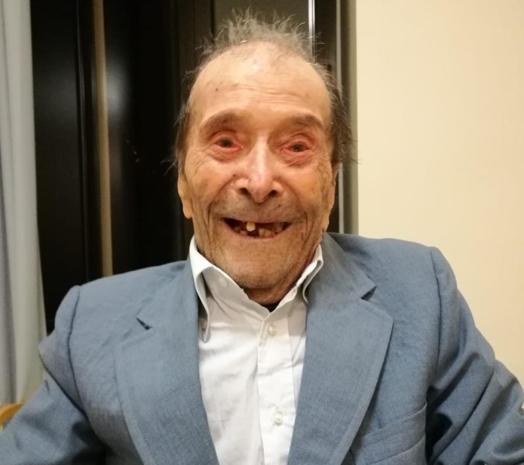 Michele, 105 anni festeggiati con noi