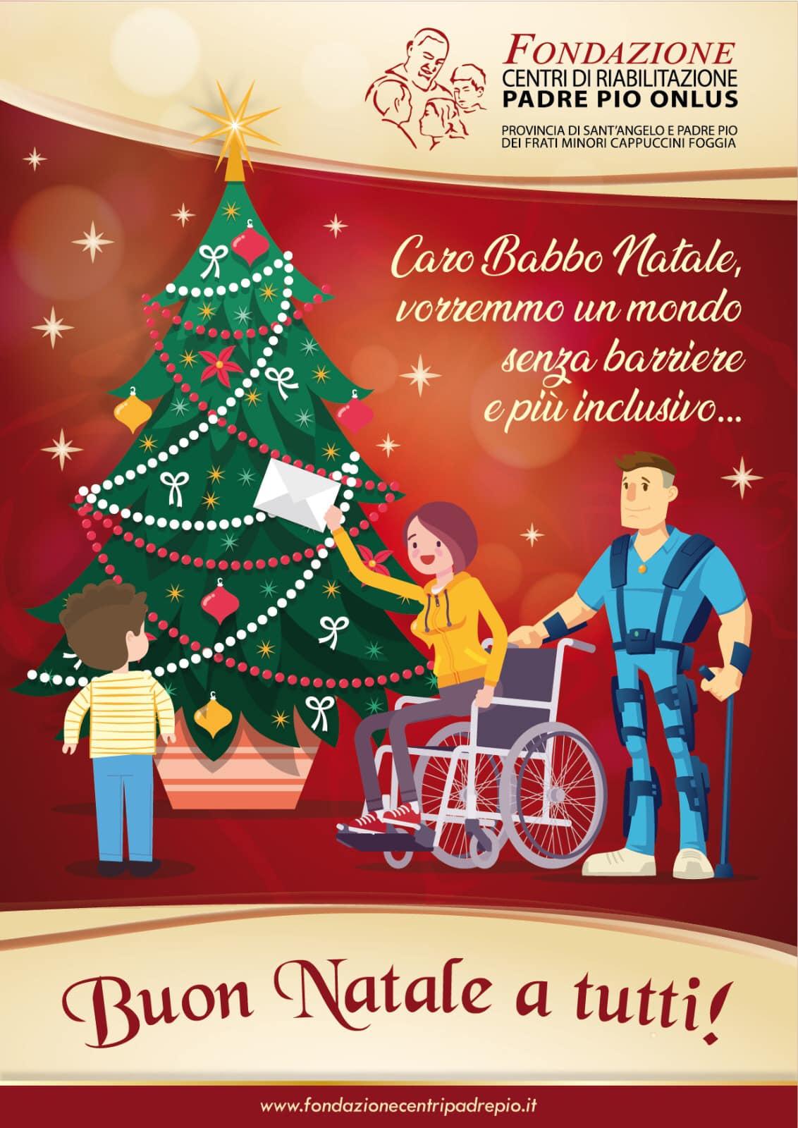 Immaggini Di Buon Natale.Auguri Buon Natale Fondazione Centri Di Riabilitazione Padre Pio Onlus