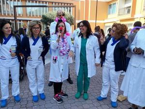La dr.ssa Armillotta ed i nostri operatori della riabilitazione