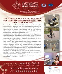 Sostieni la Fondazione Centri di Riabilitazione Padre Pio Onlus