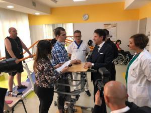 Premier Conte con i pazienti